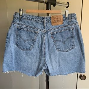 Vintage Levi's High Waisted Jean Shorts